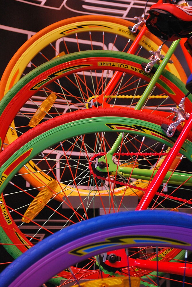 Colourful Wheels by feef
