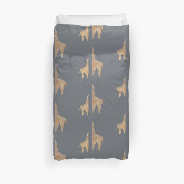 Origami Giraffe Duvet Cover