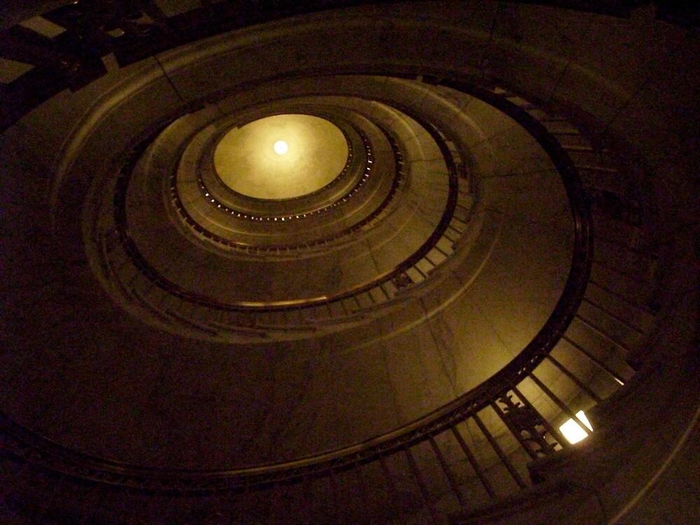 Elliptical Stairway -- US Supreme Court Building by AJ Belongia