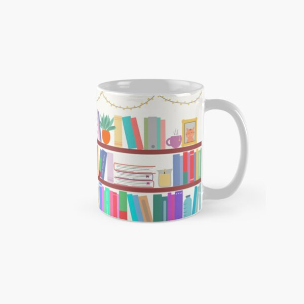 Colourful Bookshelf Design Classic Mug