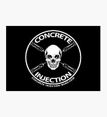 concrete injection skull logo Photographic Print