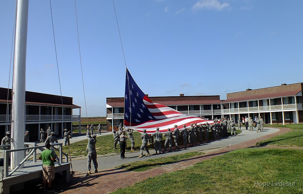 Flag Raising at Fort McHenry by Hope Ledebur
