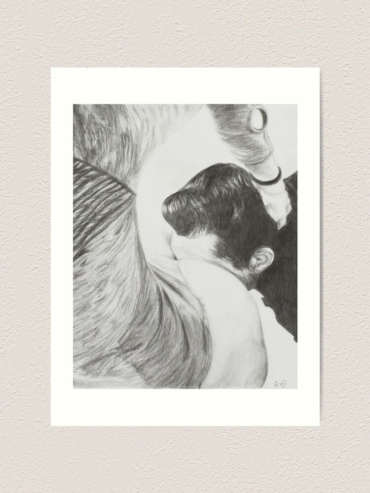 Alternate view of Know Your Place ~ Fetish Pencil Drawing Art Print