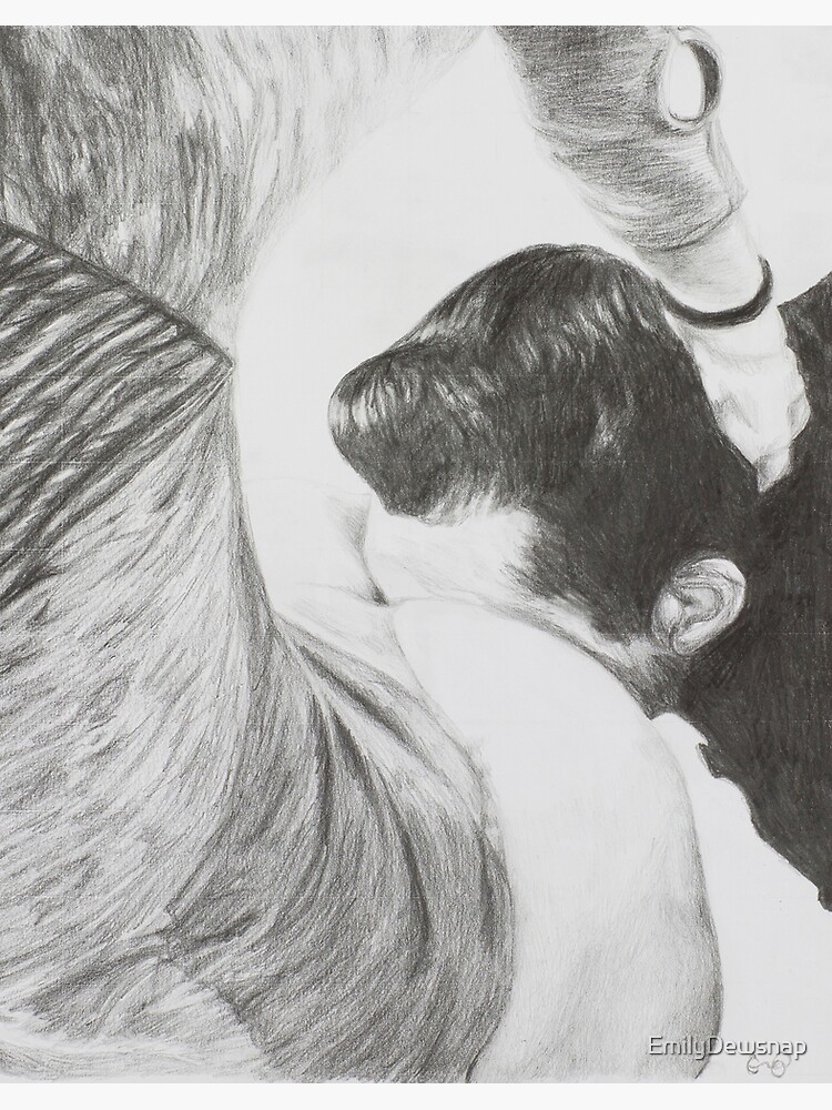 Know Your Place ~ Fetish Pencil Drawing by EmilyDewsnap