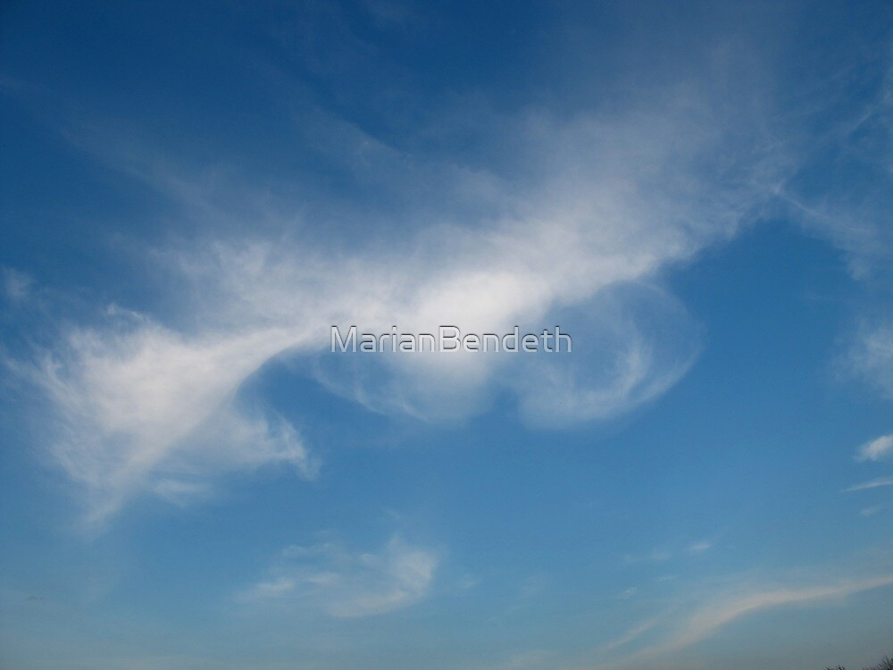 Blowing smoke rings in the sky by MarianBendeth