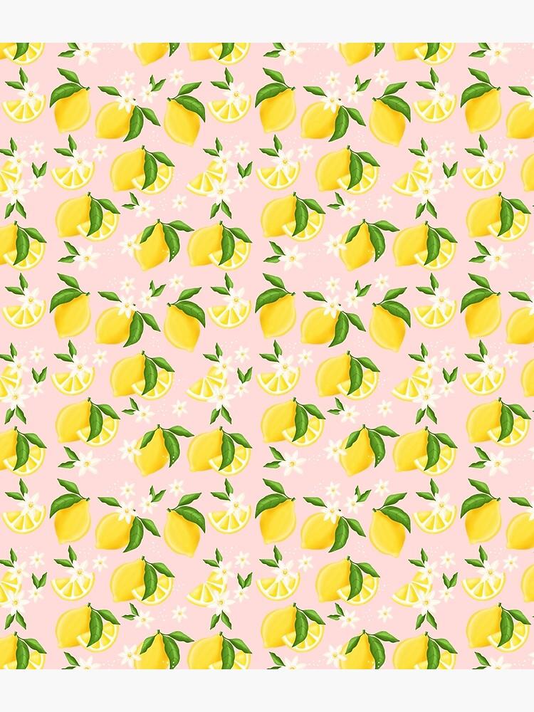 Summer Lemon Pattern by Katbydesign