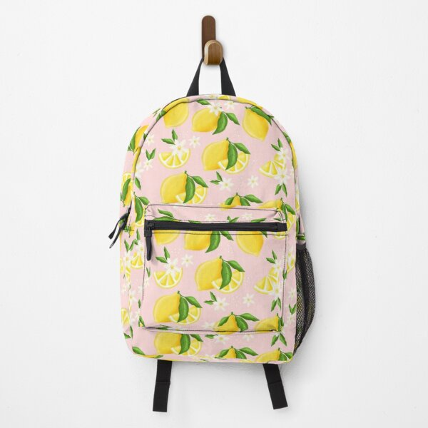 Summer Lemon Pattern Backpack