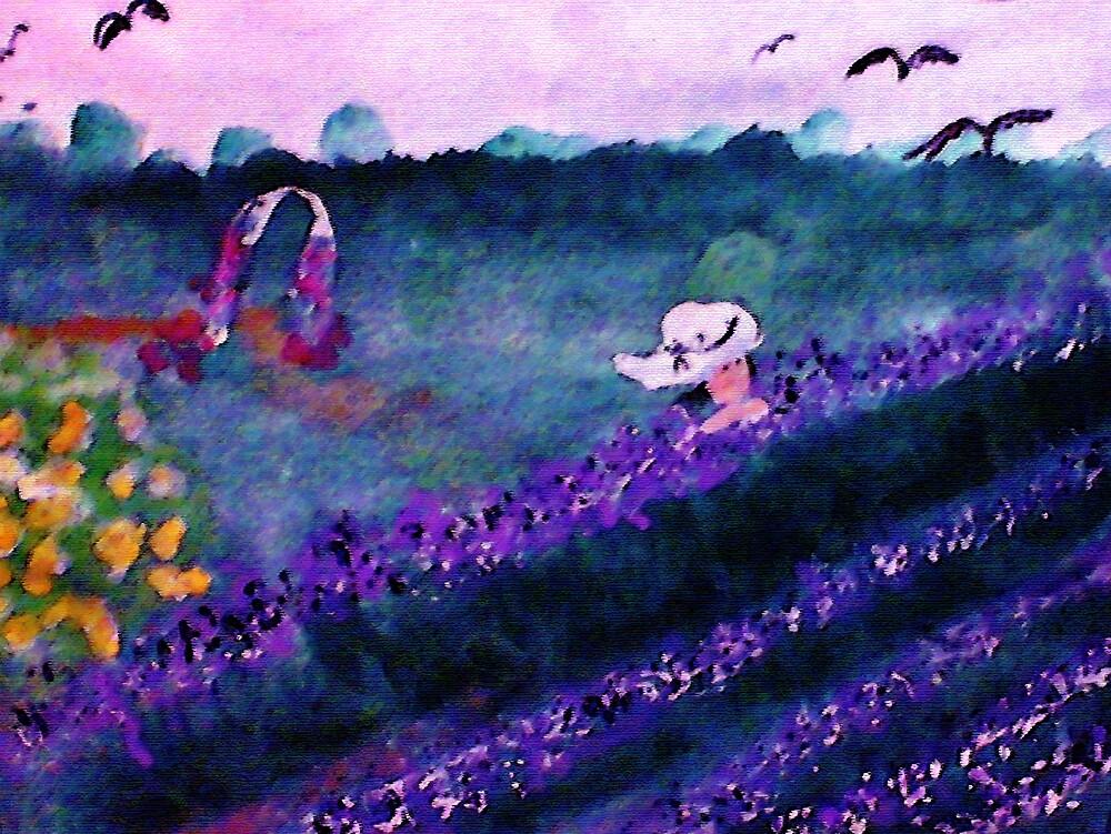 Garden of Flowers, watercolorGarden of Flowers, watercolor by Anna  Lewis, blind artist