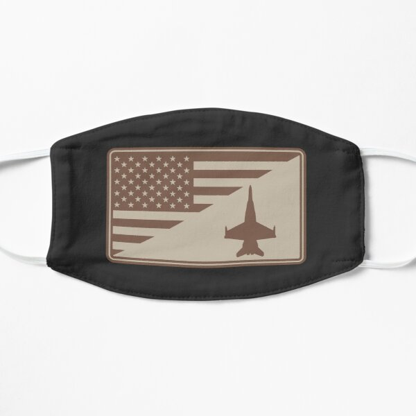 F/A-18 Hornet US Flag Patch (desert subdued) Flat Mask