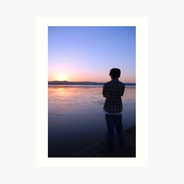 Staring at the Sunset Art Print