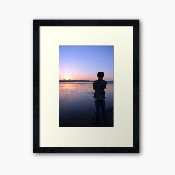 Staring at the Sunset Framed Art Print