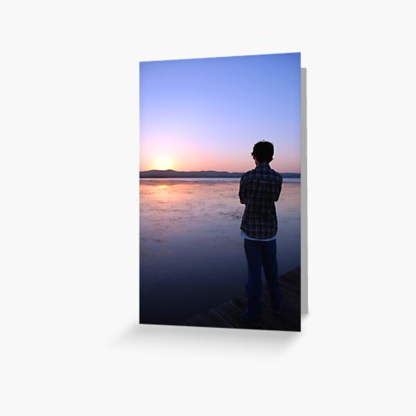 Staring at the Sunset Greeting Card