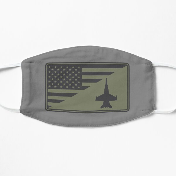 F/A-18 Hornet US Flag Patch (subdued) Flat Mask