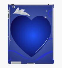 blue heart background iPad Case/Skin
