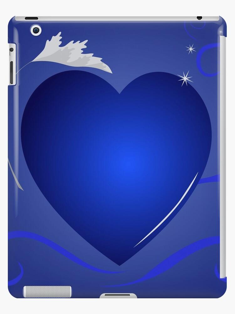 blue heart background by Marina Sterina