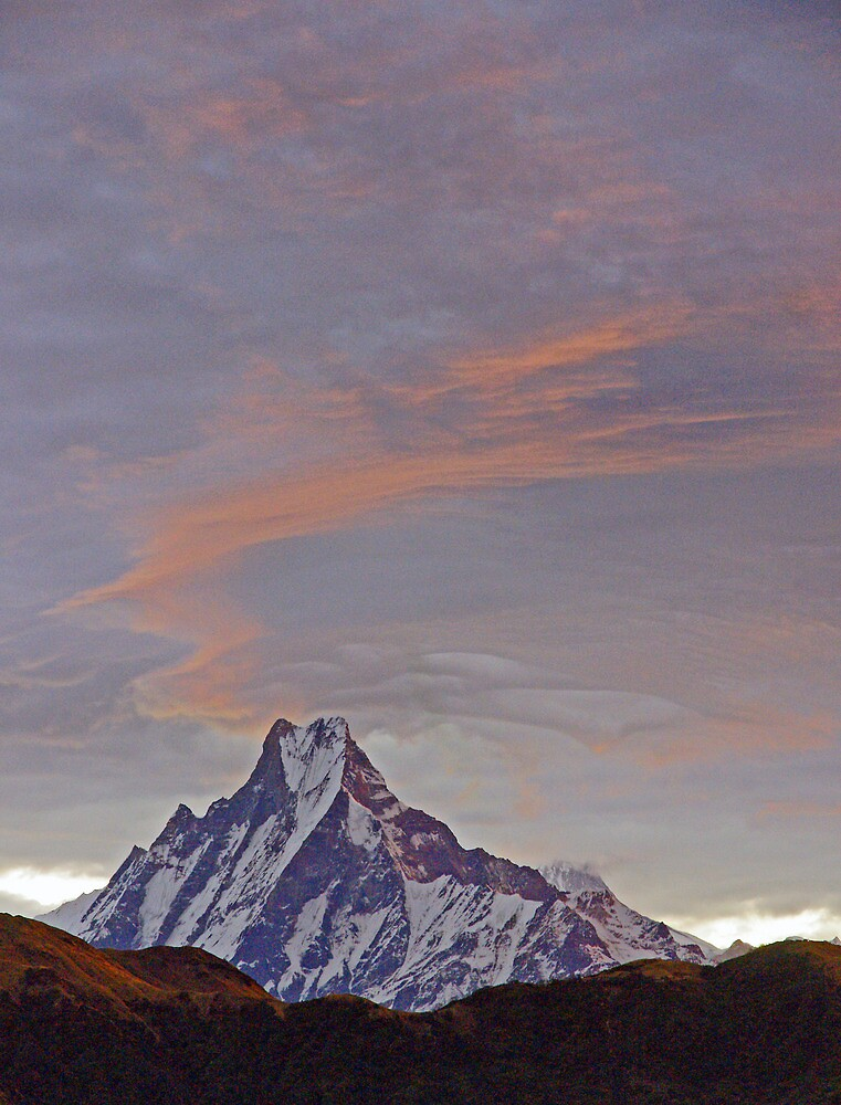 Machapucchare Sunrise by Harry Oldmeadow