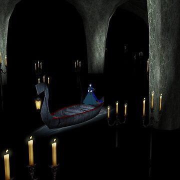 Christine in phantom's boat alone 1 by Godofmischief