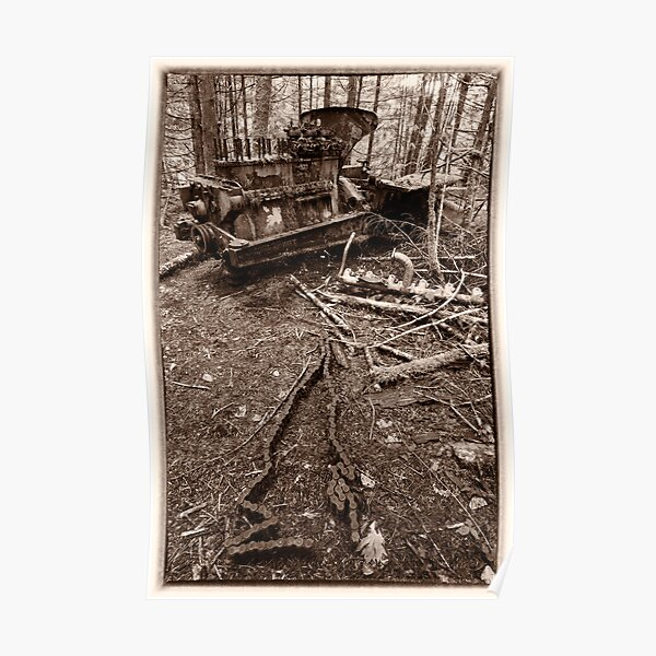Bulldozer in the Woods Poster