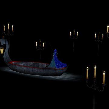 Christine in phantom's boat alone 2 by Godofmischief