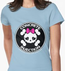 concrete injection baby doll standard logo Women's Fitted T-Shirt