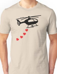 Army Helicopter Bombing Love Unisex T-Shirt