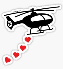 Army Helicopter Bombing Love Sticker
