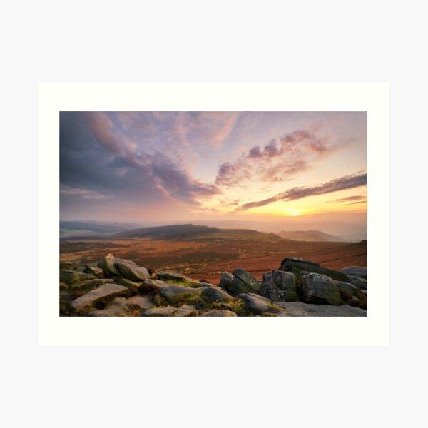Sunset from Higger Tor, The Peak District Art Print