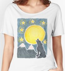 Howling at the Moon Women's Relaxed Fit T-Shirt
