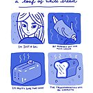 A Loaf Of White Bread-Blue by Maia Grecco