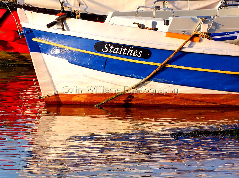 Reflections At Staithes by Colin  Williams Photography