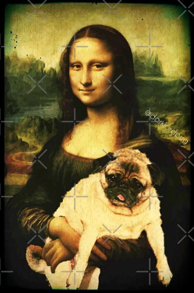 MONA LISA PUG by darklordpug