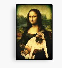 MONA LISA PUG Canvas Print