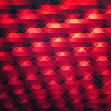 Abstract Color Pattern in Red von badbugs