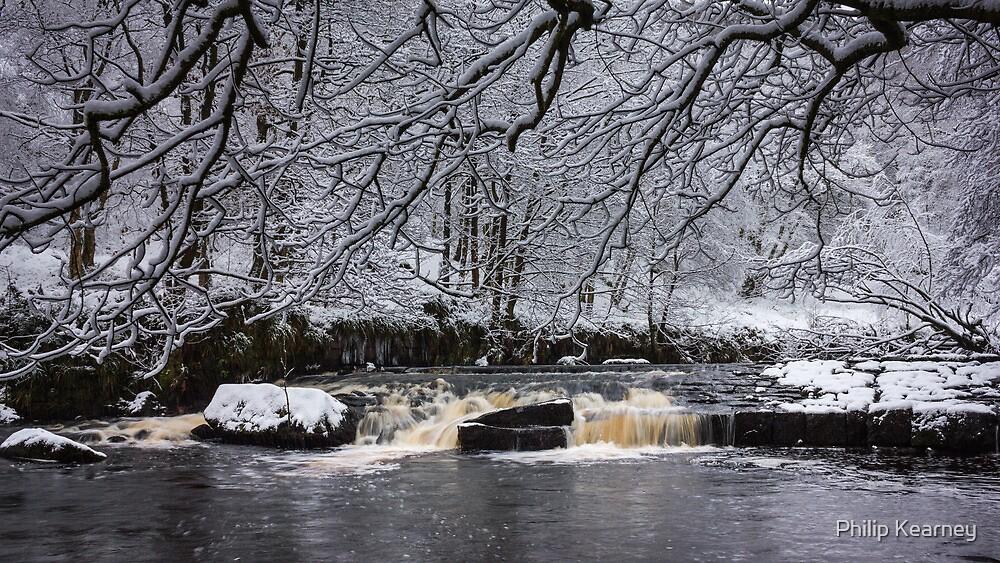 Hebden Water in snow by Philip Kearney