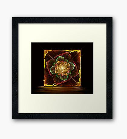 Flower Tile Framed Print