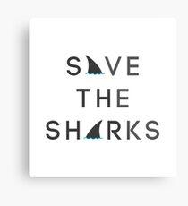 Save the Sharks Metal Print