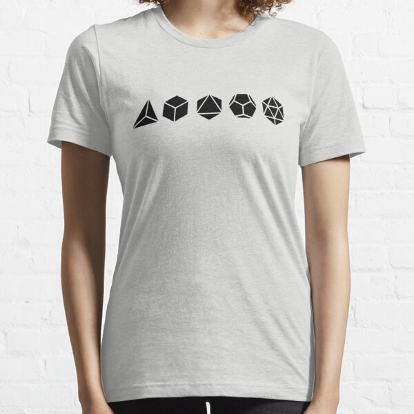 Platonic Solids - Building Blocks Of Life - Mathematics, Geometry Essential T-Shirt