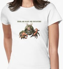Crab infantryman ready for combat action Womens Fitted T-Shirt