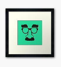 Groucho mask - nerd glasses Framed Print