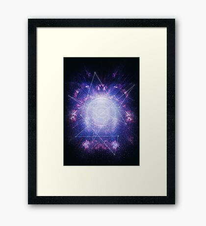 Abstract colossal space Sign! Framed Print