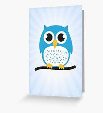 Sweet & cute owl Greeting Card