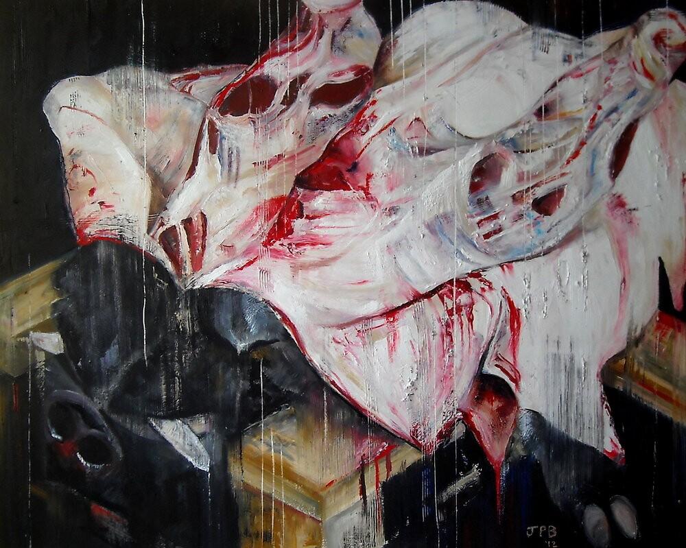 SUS SCROFA (DEAD) by benfentonartist