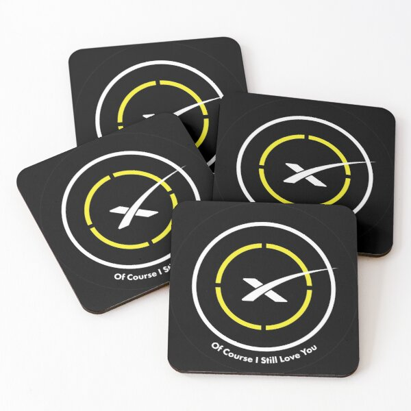 Of Course I Still Love You Landing Pad Coasters (Set of 4)