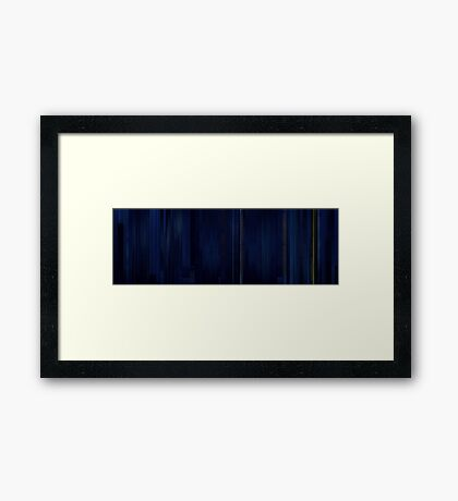 Moviebarcode: Sequence from Moonrise Kingdom (2012) Framed Print