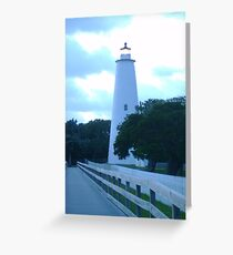 Ocracoke Lighthouse at Night Greeting Card
