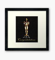 Oscars Congratulations Framed Print