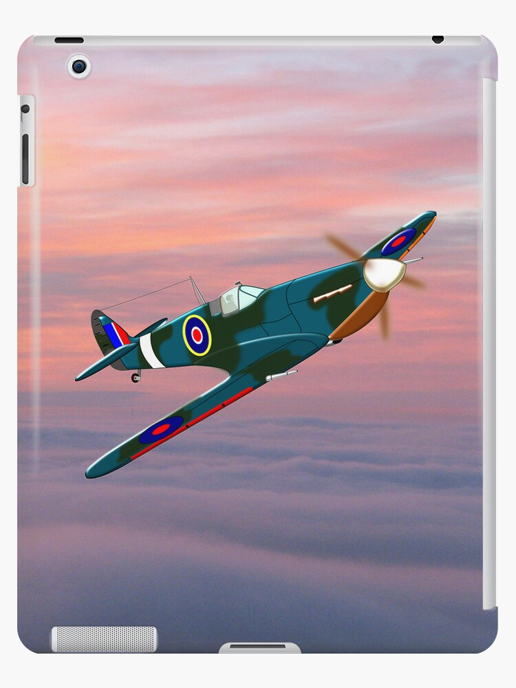 Supermarine Spitfire iPad case by Dennis Melling