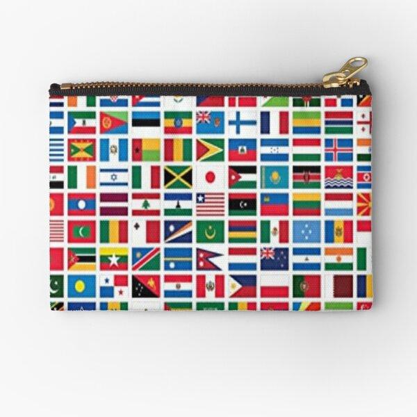Flags of the world power  Zipper Pouch