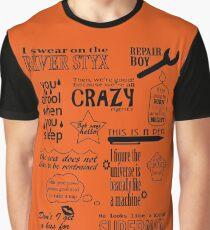 Helden der Olympus-Zitate Grafik T-Shirt
