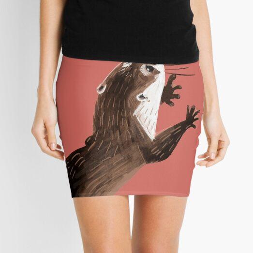 Totem otter  (Living coral) Mini Skirt